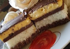 Bounty szelet The post Bounty szelet appeared first on fitness. Cookie Recipes, Dessert Recipes, Sweet Recipes, Cheesecake, Food And Drink, Baking, Ethnic Recipes, Fitness, Cakes