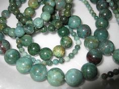 12mm African Jade Round Beads  16 inch strand