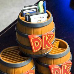 Donkey Kong Game Card Storage Barrel #donkeykong #nintendo #3ds #ds #nintendods #nintendo3ds #merch #merchandise