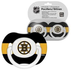 Boston Bruins Baby Pacifiers - Pack Of 2
