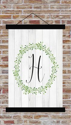 Custom Monogram Farmhouse Style Flag Hanging Canvas Banner Father's Day Mother's Day Outdoor Living