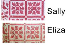 1841 Identical quilts by Conklins.