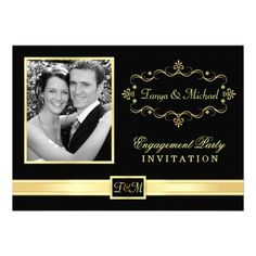 Engagement Party Invitations Templates | Engagement Party Invitations with Photo from Zazzle.com