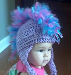 Purple Wild Child Baby Hat by olicrafts on Etsy, $18.00
