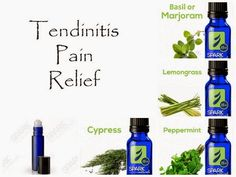 Tendinitis is something I think everyone has to deal with at some point in their lives. Tendinitis is an inflammation or irrita. Essential Oil For Tendonitis, Essential Oils For Pain, Essential Oil Uses, Young Living Essential Oils, Knee Pain Relief, Young Living Oils, Doterra Essential Oils, Eos, Natural Remedies