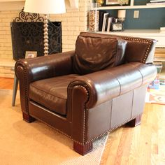 Beautiful Leather Club Chair $185 - Richardson http://furnishly.com/catalog/product/view/id/1069/s/beautiful-leather-club-chair/