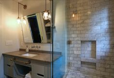 Laurelhurst Marble Bathroom - eclectic - Bathroom - Portland - Designed by Arciform's Kristyn Bester