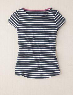 Short Sleeve Breton Top -- French Blue & Cream Stripe