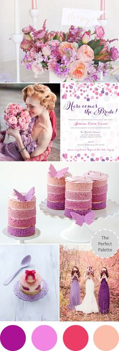 Wedding Colors | Pinks + Purples! http://www.theperfectpalette.com/2013/05/wedding-colors-i-love-pinks-purples.html