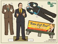 """Better call Saul!"" Breaking Bad Paper Dolls by Kyle Hilton"