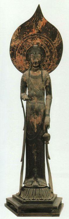 Japanese National Treasure, Statue of Kudara Kannon. S)