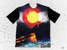 "Nathan Mynus ""Red Rocks Crowd"" Unisex Box Shirt Part of the Nathan Mynus x Pulse Of Prophets Artist Series This piece is printed exclusively for you on high qua Various Artists, Crowd, Vibrant Colors, Finding Yourself, Rocks, Unisex, Box, Prints, Artwork"