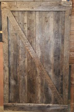 Sliding barn door I made with recliamed barnwood