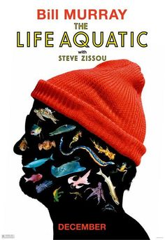 Official theatrical movie poster ( of for The Life Aquatic with Steve Zissou Directed by Wes Anderson. Best Movie Posters, Film Posters, Wes Anderson Movies, Indie Films, Life Aquatic, Internet Movies, Poster Series, Great Films, Moving Pictures