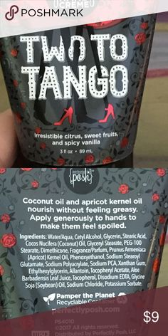 Two to Tango Hand Lotion Spicy Vanilla scented hand lotion Other