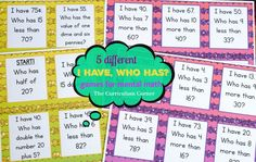 FREEBIE!!!! 5 I Have, Who Has Games for Mental Math Collection FREE from The Curriculum Corner