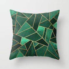 Buy Emerald and Copper Throw Pillow by Elisabeth Fredriksson. Worldwide shipping available at Society6.com. Just one of millions of high quality products available.