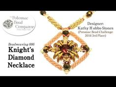 Knight's Diamond Necklace Tutorial - YouTube, all supplies from www.potomacbeads.com