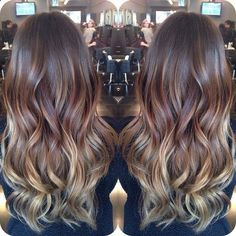 My next hair color for sure! Ombré brown and caramel