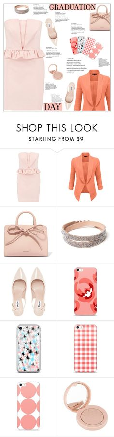 """Graduation Day"" by atelier-briella ❤ liked on Polyvore featuring RED Valentino, LE3NO, Mansur Gavriel, Dune, Bourjois, Graduation, chic, Elegant and iPhonecases"
