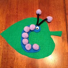 Letter of the Week Preschool Craft- Letter C is for Caterpillar # three four year old ABC activity