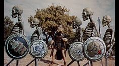 Remembering Ray Harryhausen, a pioneer in special effects and stop-motion animation: Jason and the Argonauts skeleton fight Fantasy Movies, Sci Fi Movies, Sci Fi Fantasy, Jason And The Argonauts, Clash Of The Titans, Fritz Lang, Classic Sci Fi, Sinbad, Classic Monsters