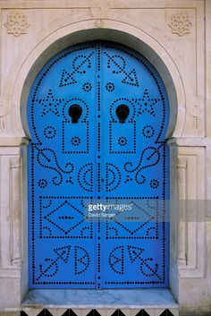 Foto stock : Tunisia, Sidi Bou Said, ornate doorway