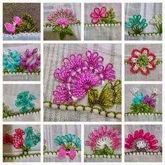Çiçekli İğne Oyaları
