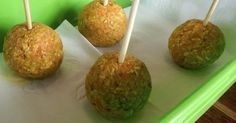 Healthy RAW Carrot Cake Pops for Back to School