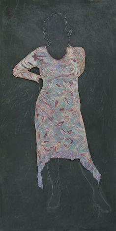 "Judy Byron ~ ""Helga"" (2003-2005) 3-D drawing from series: WHERE I LIVE. via brooklynmuseum.org |  Elizabeth A. Sackler Center for Feminist Art"
