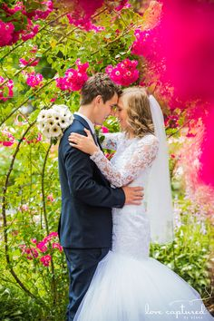 Point Defiance Rose Garden. Wedding photography