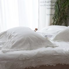 ==> [Free Shipping] Buy Best Lace Bed Linen Bed Cover Set 450TC Cotton Embroidery Quilt Cover Bedspread Pillowcase Soild Color Home Bedding Sets Online with LOWEST Price | 32820018156