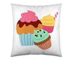 """Povlak na polštář """"Cupcake Party"""", 60 x 60 cm"""