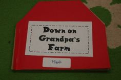 Down on Grandpa's Farm (song) - barn booklet with pockets to hold animals from song.