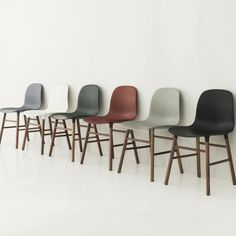 Buy Normann Copenhagen Form Chair - Walnut online with Houseology's Price Promise. Full Normann Copenhagen collection with UK & International shipping. Kitchen Chairs, Dining Chairs, Norman Copenhagen, Vitra Chair, Home Furniture, Furniture Design, Buy Chair, Nordic Design, Living Room Chairs