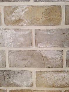 painted faux brick wall ~ design indulgence: F. Fake Brick, Faux Brick Walls, Brick Paneling, Brick And Stone, Faux Brick Backsplash, Faux Murs, Wall Design, House Design, Faux Painting