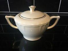 Vintage Bovey Pottery Devon Light Yellow Double Handled Lidded Sugar Bowl Dish  | eBay Sugar Bowl, Devon, Tea Pots, Im Not Perfect, England, Pottery, Handle, Dishes, The Originals