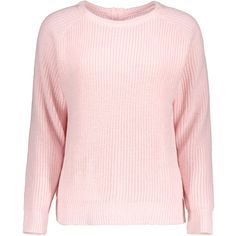Chunky Back Zipper Sweater Light pink (83.155 COP) ❤ liked on Polyvore featuring tops, sweaters, pink sweater, zip back sweater, zip back top, chunky sweater and pink top