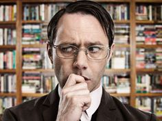 Psychoville (2011) [TV series]. Jeremy Goode, a librarian, is obsessed with the return of the overdue book 50 Great Coastal Walks of the British Isles, Vol. 2 by a woman who claims she lost it.
