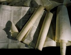 Torah scrolls desecrated during the Kristallnacht pogrom, are displayed on the fourth floor of the permanent exhibition at the U.S. Holocaus...