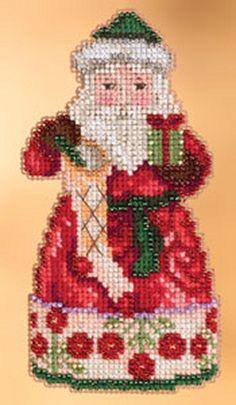 Glad Tidings Santa Cross Stitch Kit Mill Hill 2013 Jim Shore Santas