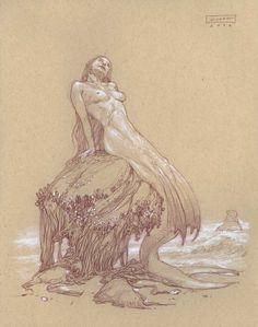Donato Giancola - Mermaid - Curiosity II