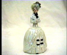 Vintage Lady Figural Perfume Bottle Porcelain Germany