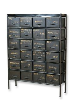 We sell this at West End Salvage. 25 drawer cabinet- and we have SO many more than just this...