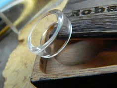 Clear Acrylic Ring The Invisible Band by RobandLean on Etsy, $25.00