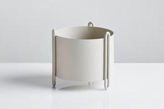 WOUD | 150 mm Pidestall flowerpot, grey