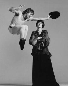 Mikhail Baryshnikov and Twyla Tharp. Great dancers -- 1975