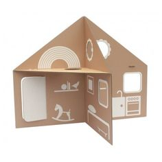 Playhouse Eco Recyclable Cardboard Doll House Toy