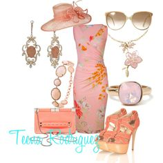 A fashion look from May 2012 featuring Leonard dresses, Miss Selfridge sandals and Proenza Schouler clutches. Browse and shop related looks. Kentucky Derby Outfit, Derby Attire, Kentucky Derby Fashion, Derby Outfits, Ascot Outfits, Tea Party Attire, Tea Party Outfits, Derby Day, Beautiful Outfits