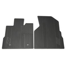 Equinox Floor Mats, Front Set: Front floor mats with custom deep patterned grid collects rain, mud, snow, and debris to help keep your vehicles interior clean. Nibs on back held hold mats in place and conform to the interior of your vehicle.